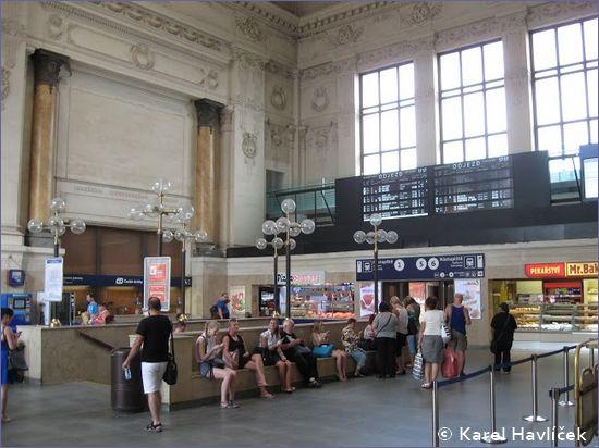 Brno hlavní nádraží - hol główny