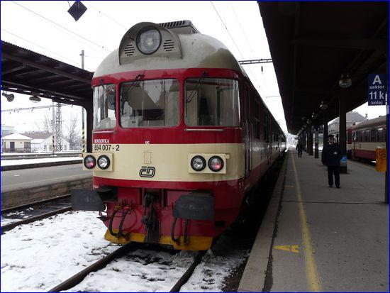 Brno hlavní nádraží - motoraczek na ślepym torze