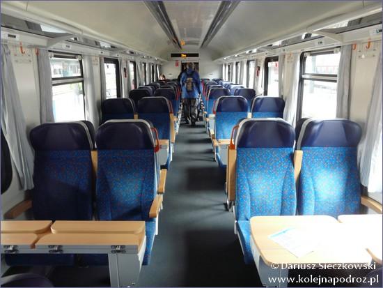 Wnętrze pociągu EX Praga - Żylina