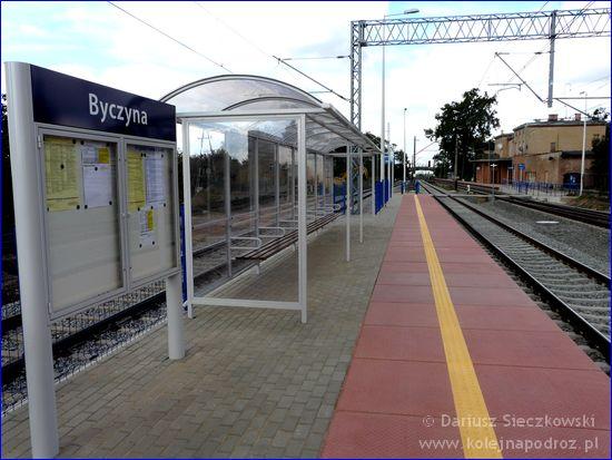 Byczyna Kluczborska - wyremontowany peron