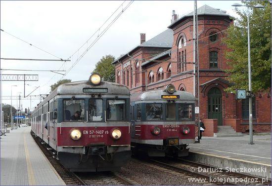 Kluczbork - dworzec kolejowy od strony peronu