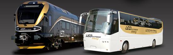 Leo Express - pociąg i autobus