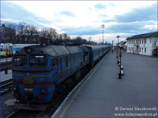 Koleje ukraińskie - skład wagony